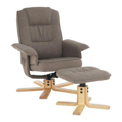 Relaxačné kreslo s podnožou